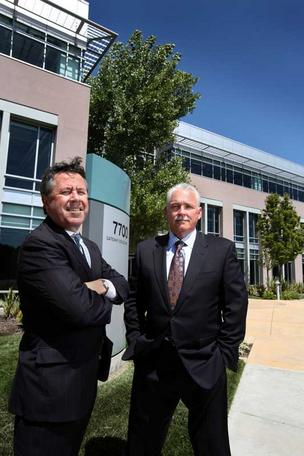 Bouret, left, and Domanico say the deal consolidated Logitech's employees in one building.