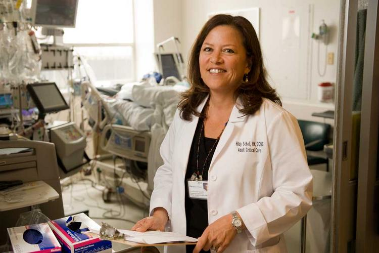 """Schell-Chaple has many roles, but helping patients is """"very rewarding,"""" she says."""