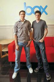 Treasure box: Dylan Smith (left) and Aaron Levie lead Box.net, which raised $48 million in February.