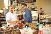 Fresh ideas: Restaurant Group's David Steele (right) and Salumeria chef Matt Sigler at Central Kitchen.
