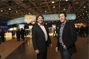 David Stein (left) and Daniel DeBow co-founded Rypple, now part of Salesforce.