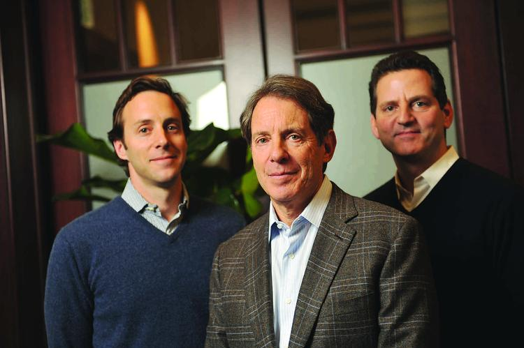 Steve Vermut (center), with son Aaron (left) and Ron Suber, seeks sophisticated investors.