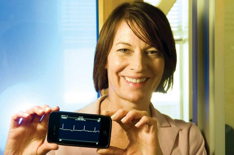 """""""Our aspiration is to make your ECG as accessible as taking your blood pressure,"""" says CEO Judy Wade."""
