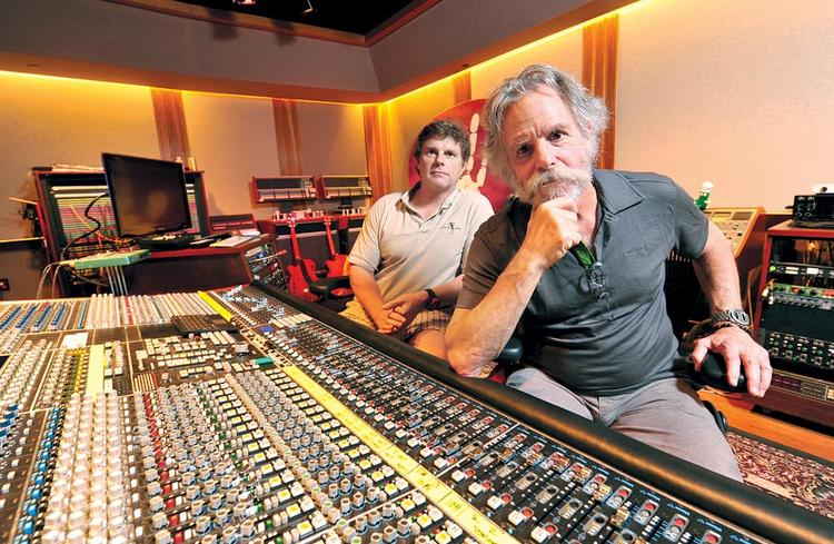 "Mixing it up: McCutcheon (left), Weir launch streaming venture from ""ultimate playpen for musicians."""