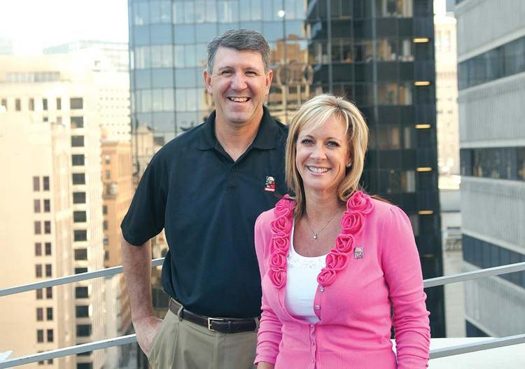 Step by step: McCarthy's Rich Henry (left) and Lori Winsor.