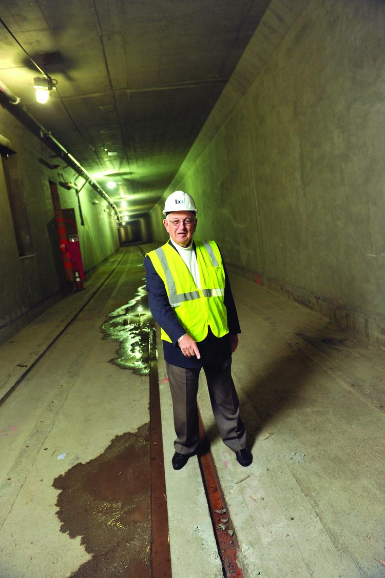 """The first phase of the extension is """"99.5 percent complete,"""" says BART Director Tom Blalock, standing in the tunnel that runs under Fremont's Central Park."""