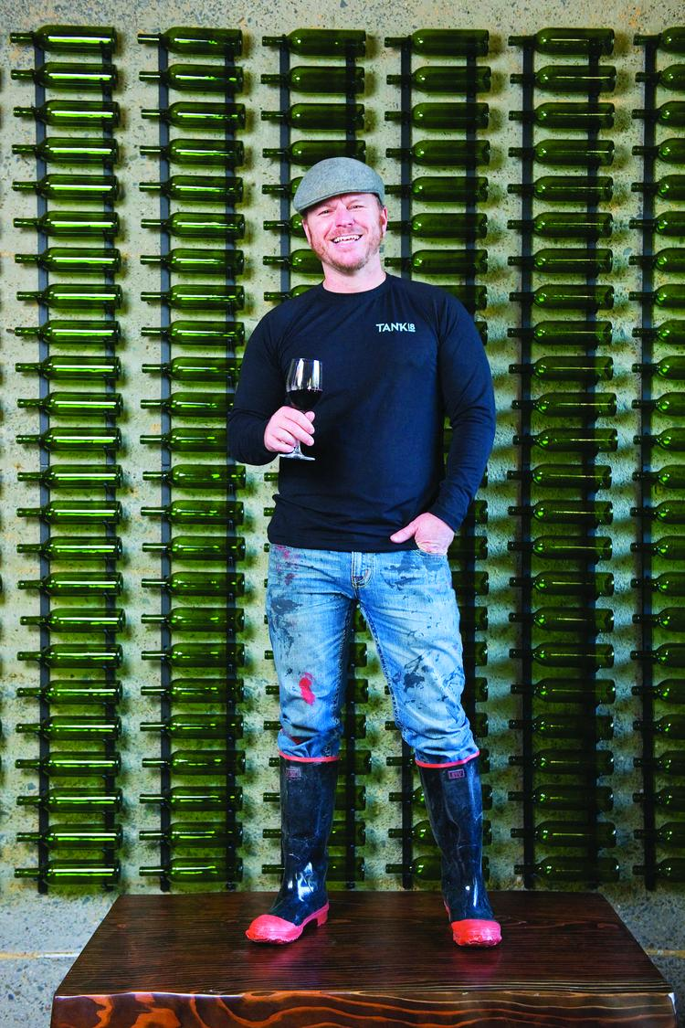 Patrick MacCartee raises a toast to Tank 18, anew addition toSan Francisco's emerging winemaking industry.