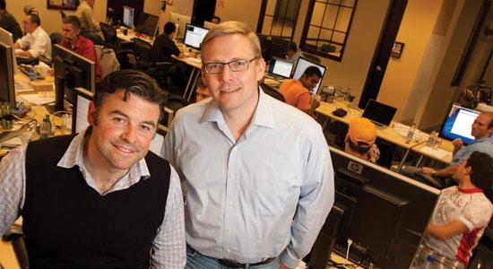Big Switch Networks co-founders Kyle Forster, left, and Guido Appenzeller have raised $45 million in venture funding, including a new $6.5 million investment by Intel Capital.