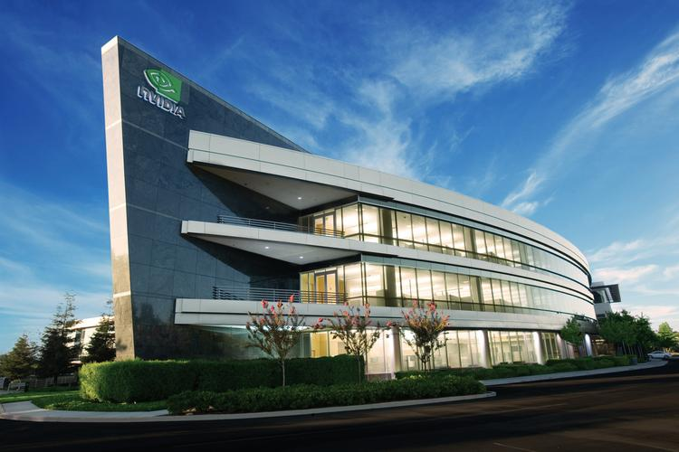 Nvidia currently leases and owns office space, but is now looking to grow with a big new office campus development.The building above is one of its existing leased buildings in Santa Clara.