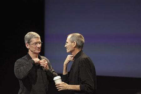Apple's stock peaked at more than $700 in September, but now is at about $540. Analysts said some investors may be concerned that Apple won't be able to innovate under CEO Tim Cook at the rate it did when Steve Jobs led the company.