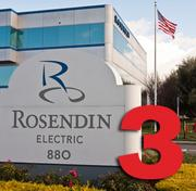 No. 3: Rosendin Electric Inc.  Number of electricians in Silicon Valley: 495 Number of electricians companywide: 2,320 Union or nonunion shop: Union Year founded locally: 1919 Top local executive: Tom Sorley, chairman and CEO