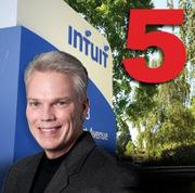 No. 5(Tie): Intuit Inc.  Most recent four-quarters revenue: $3.9 billion. Four quarters ending on: 31-Oct-11. Four-quarters net income:$640 million.  Total Employees: 8,000. CEO: Brad Smith.