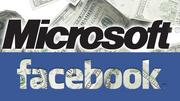 2007- Microsoft buys in  Microsoft takes a $240 million stake in Facebook at a valuation of $15 billion. Facebook had at this point taken on only about $40 million in venture funding, so this huge influx of cash helps to validate the company. That same year, Facebook announces that it is cash-flow positive for the first time.