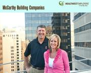McCarthy Building Cos.'s Rich Henry and LoriTe Winsor know health is more than just losing weight. The division president and wellness champion, respectively, work to focus the construction company's wellness program on stress reduction, awareness and lifestyle. The company came in second in the 100- to 499-employee category.