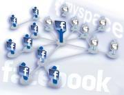 June 2008 -  Facebook passes Myspace Facebook overtakes Myspace to be the most visited social network in the world for the first time, drawing 132 million people compared to 117.5 million visitors to Myspace.