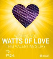 Semiconductor equipment company Applied Materials sent out this and another Valentine on Tuesday.