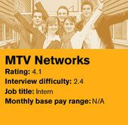 MTV Networks was ranked No. 4 on Glassdoor's list of the 20 best companies in the country to intern for.