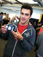 Connor Zwick of MilkShake Labs has developed the CoCo Controller, a case for an iPhone that gives it actual game control buttons. He was one of the entrepreneurs pitching at Y Combinator's Demo Day on Tuesday.
