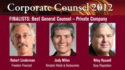 The winner of the Best General Counsel — Private Company Award will be announced on March 1 at an celebration at the Sofitel, San Francisco Bay, in Redwood City.