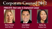 The winner of the Best Labor and Employment Lawyer Award will be announced on March 1 at an celebration at the Sofitel, San Francisco Bay, in Redwood City.