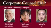 The winner of the Community Champion Award will be announced on March 1 at an celebration at the Sofitel, San Francisco Bay, in Redwood City.