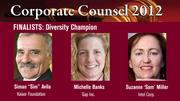 The winner of the Diversity Champion Award will be announced on March 1 at an celebration at the Sofitel, San Francisco Bay, in Redwood City.