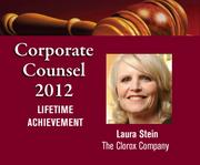 Laura Stein of The Clorox Co. is being honored for lifetime achievement at the 2012 Best Bay Area Corporate Counsel Awards on March 1.