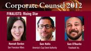 The winner of the Rising Star Award will be announced on March 1 at an celebration at the Sofitel, San Francisco Bay, in Redwood City.