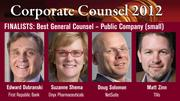 The winner of the Best General Counsel — Small Company Award will be announced on March 1 at an celebration at the Sofitel, San Francisco Bay, in Redwood City.