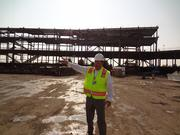 Project Executive Jack Hill guides a tour of progress at the new stadium.
