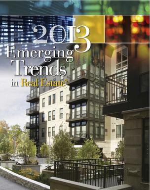 The 2013 Emerging Trends in Real Estate report shows San Jose's real estate sector continuing to improve.