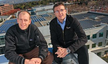 Co-founders Peter (left) and Lyndon Rive of SolarCity Corp.