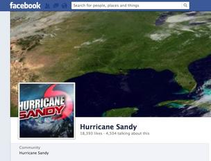 Facebook Hurricane Sandy page