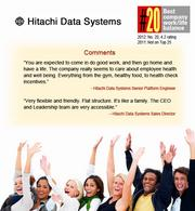 San Jose-based Hitachi Data Systems ranked No20 on Glassdoor.com's annual list of companies with the best work-life balance.