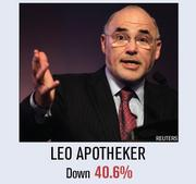 Under Leo Apotheker, Hewlett-Packard stock has dropped more than 40 percent in the past year.