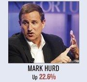 Under Mark Hurd, HP's stock rose 22.6 percent.