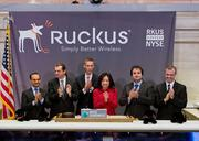 Ruckus Wireless CEO Selina Lo and other execs from the Sunnyvale Wi-Fi equipment startup were at the NYSE when trading of the company's stock started on Friday.