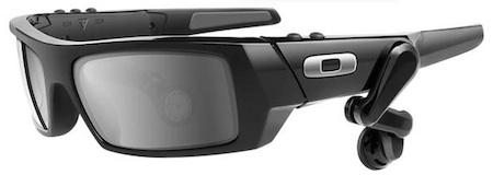 Google's augmented reality glasses reportedly closely resemble Oakley Thump Glasses, shown here.