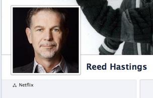 Netflix CEO Reed Hastings' Facebook site