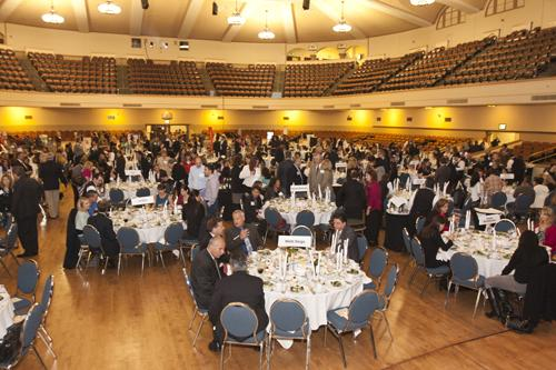 A sold-out crowd of 350 people filled the San Jose Civic Auditorium Thursday night for the annual Corporate Philanthropy Awards gala.