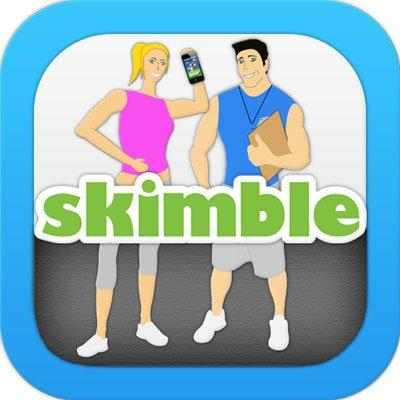 Maria Ly, co-founder of Skimble, which makes exercise applications for mobile, showed off her product with a backflip.