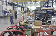 Potential bidders on Tuesday inspected manufacturing equipment being sold as part of the bankruptcy auction this week of solar panel maker Solyndra.