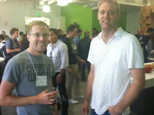 Andy Sparks of Startup Weekend and Jon Lynman of Google For Entrepreneurs