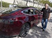 Konstantin Othmer, CEO of Cloud Car, is the owner of Model S No. 10 and drove his car away from the Fremont factory Friday night.