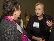 Women of Influence alumnus Barbara Kamm of Tech CU chatted with one of this year's honorees, Linda M. Thor of Foothill De Anza College District, at Thursday's event.