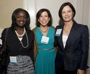 Three more of the Women of Influence honored Thursday night were, from left, Richelle Parham from eBay Marketplaces,  Lisa Nash from Blue Planet Network and Terri L. Griffith from Santa Clara University.
