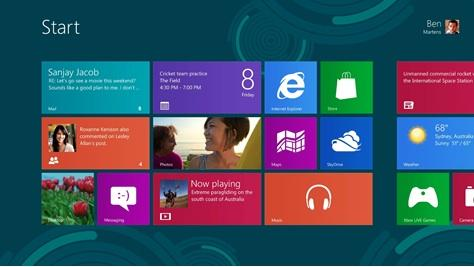 Microsoft rolled out its new Windows 8 operating system on Thursday.