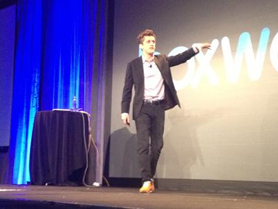Box CEO Aaron Levie spoke at the company's Boxworks convention on Tuesday.