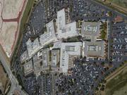 An aerial view of Facebook's Menlo Park headquarters, as seenfrom the zeppelin.