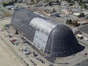 Hangar One at Moffett Field, which is being dismantled by theNavy because its siding is toxic.